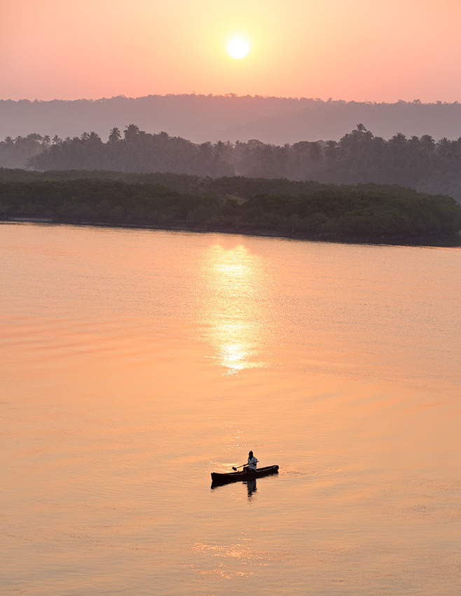 Sunrise on River Chapora, Siolim, Goa