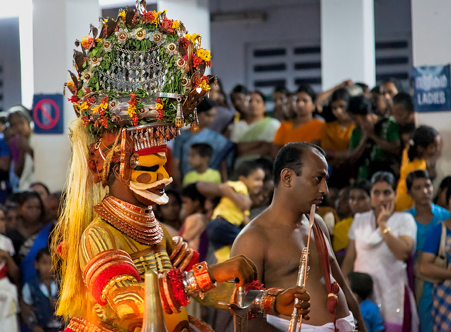 Theyyam at Parassini Kadavu temple, Kerala