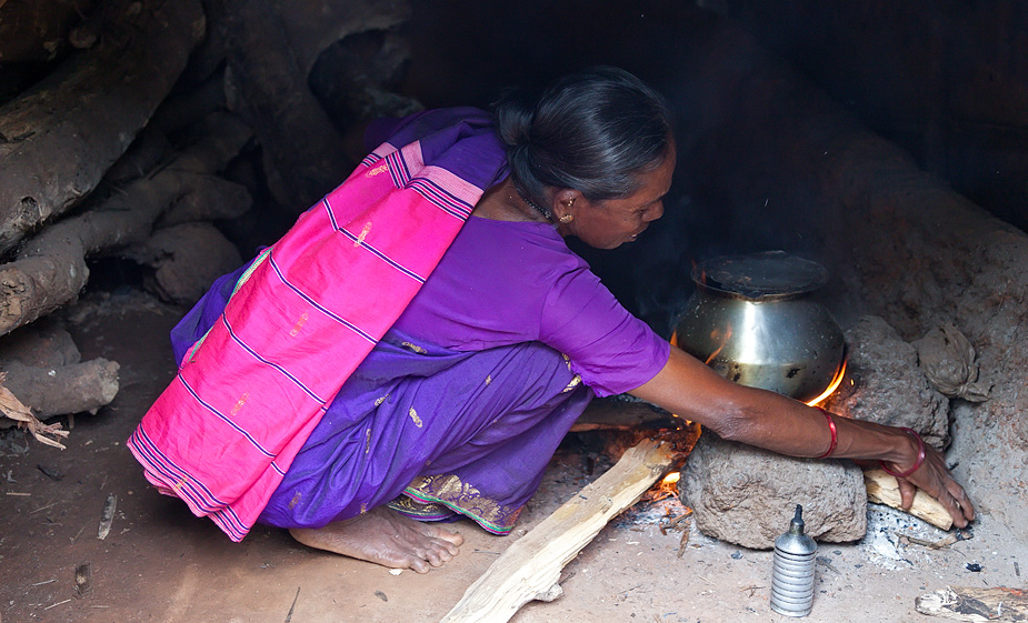 Traditional cooking in Chorao, Goa