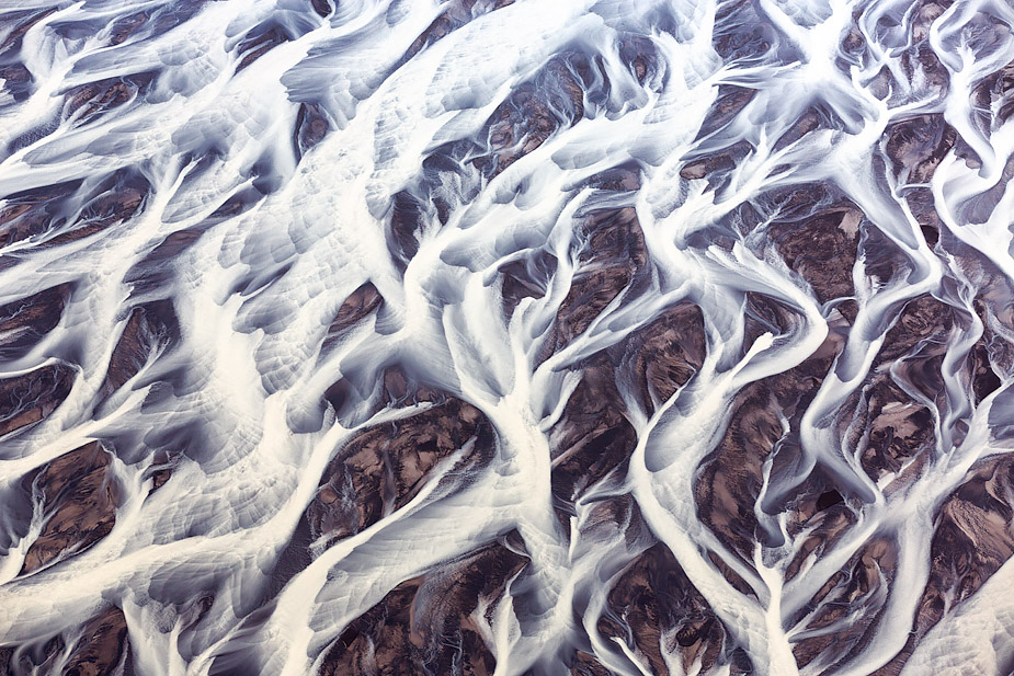 Patterns of glacial river Tungnaá