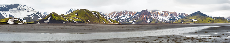 Austurbjallar pano, Highlands of Iceland