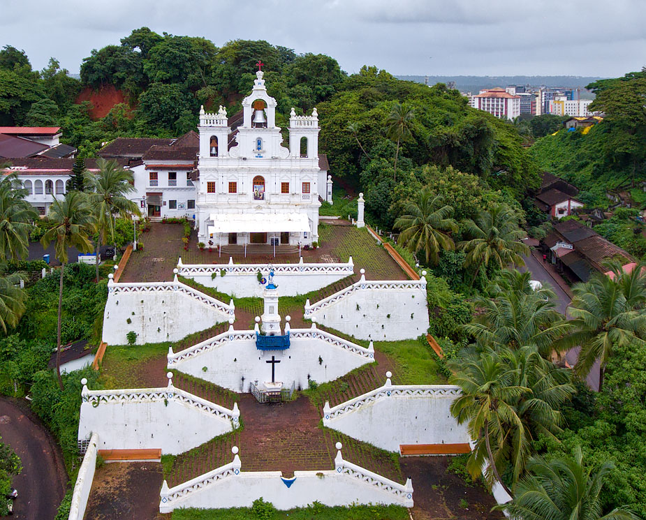Panjim Church from the air