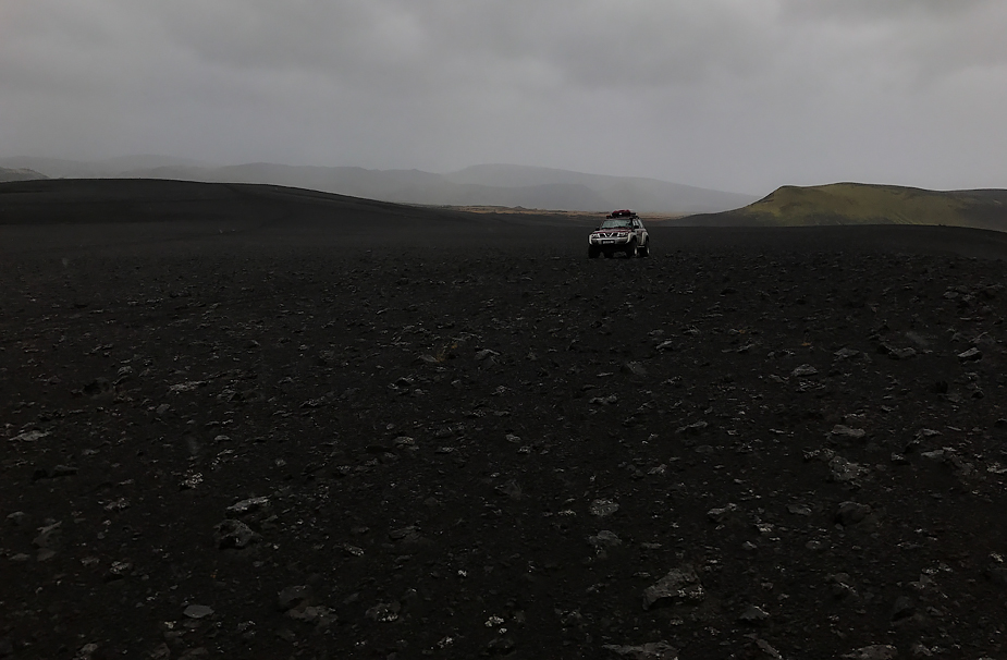 Superjeep near Valagjá, Iceland