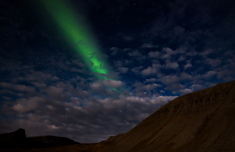Northern lights in Ketildalir near Bíldudalur, Iceland