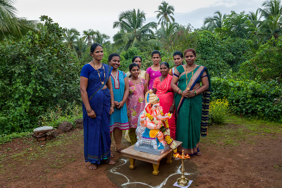 Ganesha before immersion, Dhargal, Goa