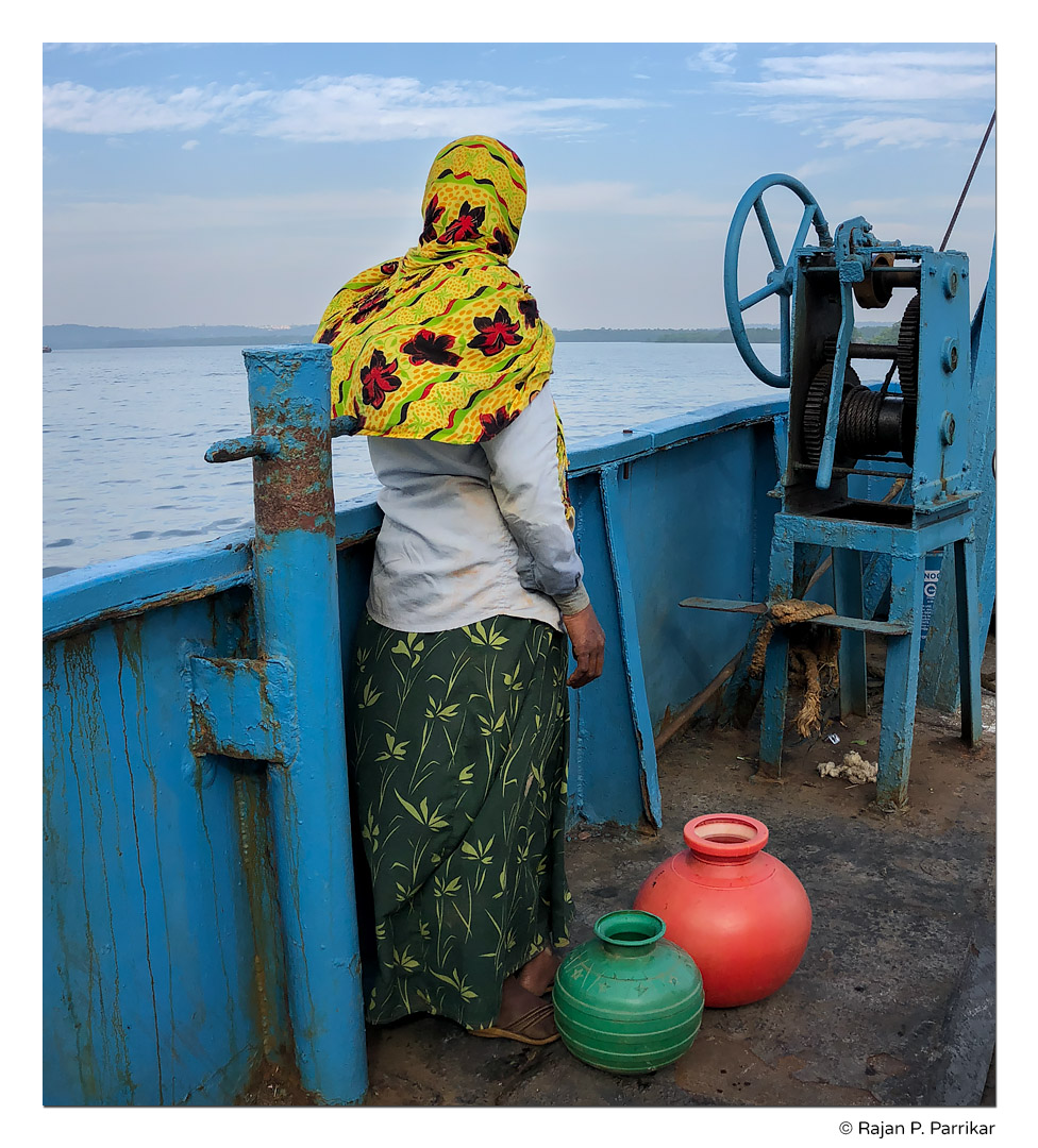 Woman on ferry, Goa