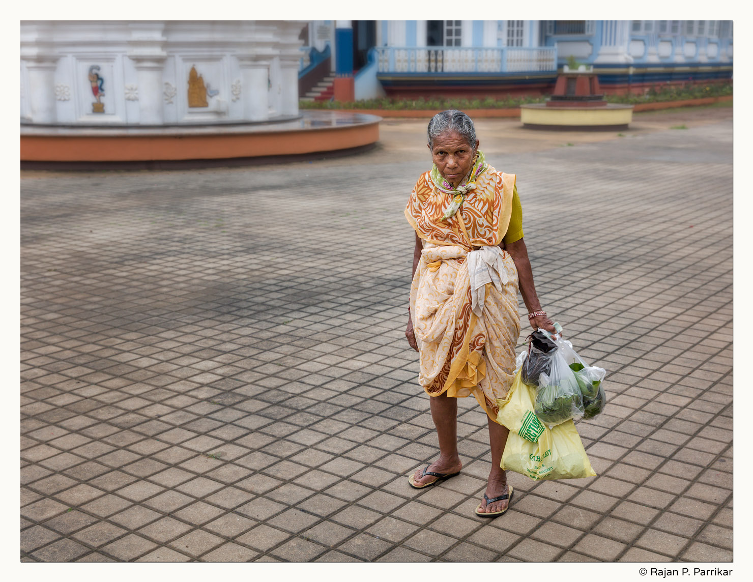 Chandrika Naik, flower seller at Manguesh Temple, Goa