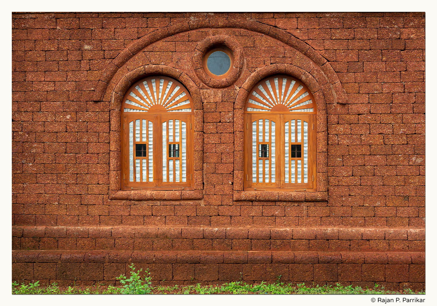 Chapel windows in Arpora, Goa