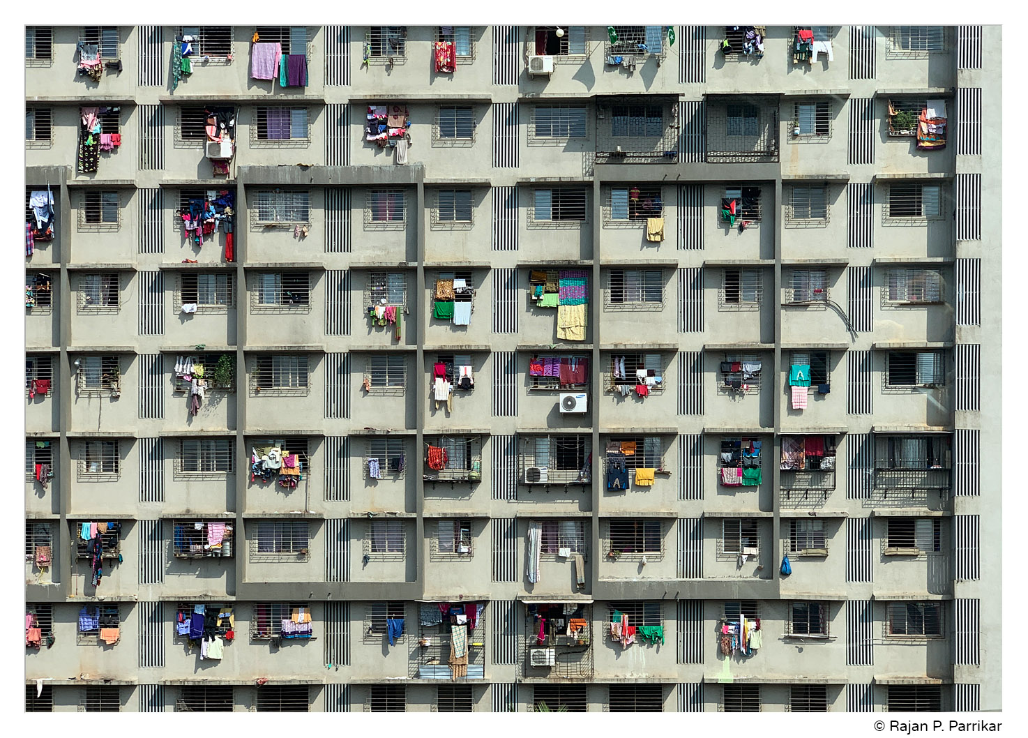 Building façade in Mumbai, India